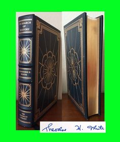 Signed Theodore H White IN SEARCH OF HISTORY 1st Edition 1st Franklin Library