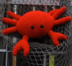 Woolie Crab Hand Crocheted Plush. $22.00, via Etsy.