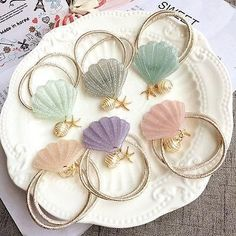 Seashell Elastic Hair Accessories