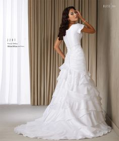 pretty modest wedding dress