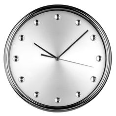BRAND NEW ROUND BLACK OR SILVER FACE WALL CLOCK WITH DIAMANTE DETAIL BLING | eBay
