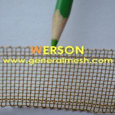 generalmesh 14mesh ,0.5mm wire ,60mm width brass selvage wire mesh ,brass selavage mesh screen ,brass welvage woven wire . Email: sales@generalmesh... skype: jennis01
