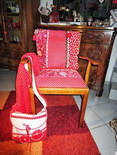 mein neuer stuhl! gestern noch auf dem sperrmüll - heute frisch geleimt und neu bezogen :-)
