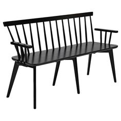 Equally at home in your contemporary hallway or Asian-inspired living room, this bench features a black finish. Style with bare wood floors, leafy green hous...