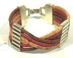 Stunning Cork Bracelet with Zamak bracelet in cork by CozyDetailz