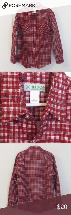 Red Plaid Haband Snapfront Long Sleeve Shirt Sz M Mens Haband Red Plaid Snapfront Long Sleeve Shirt Size M NEW without Tags Style 14D 80% Cotton 20% Polyester  Like other items in my closet?  Make a bundle and I'll send my best offer! Know what else is awesome about bundling?  Poshmark only charges shipping for one item, no matter how many items you bundle! Haband Shirts Casual Button Down Shirts