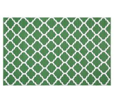 Becca Tile reversible indoor/outdoor rug -- green