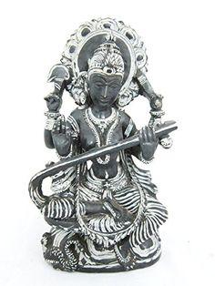 Goddess Saraswati Stone Statue Hand Carved Hindu Religious Art Sculpture 8  Inch Mogul Interior Http:
