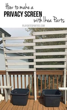 Ikea Hack Slatted Bed Base As A Privacy Fence Diy In