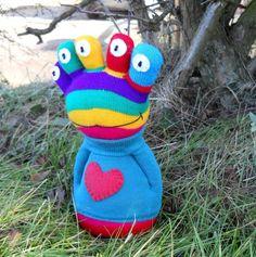 Sock alien doll sock creature monster plush by TreacherCreatures, $22.00