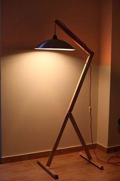 Items similar to Floor Lamp. Reclaimed wood and metal. by Orikiri on Etsy : Floor Lamp. Reclaimed wood and metal. by by Orikiri Diy Floor Lamp, Wooden Floor Lamps, Wooden Lamp, Wood Floor, Metal Floor, Cool Floor Lamps, Luminaire Design, Lamp Design, Design Design
