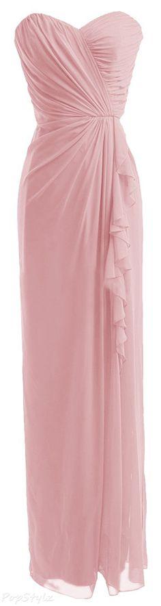 Diyouth Sweetheart Asymmetric Long Formal Dress