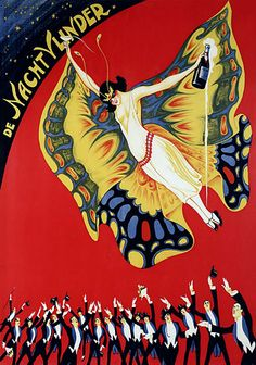 The Night Wonder 1920s Butterfly Vintage Circus Posters & Prints