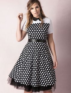 Studio Mod Collar Dress with Tulle | Sweet Spot Collection | Women's Plus Size Fashion | ELOQUII