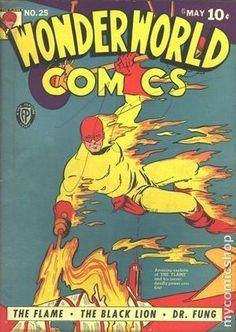WONDERWORLD COMICS 25, THE FLAME, GOLDEN AGE COMIC