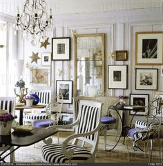 14th century Directoire-style Paris townhouse with interior architecture by Frederic Mechiche - stock photo