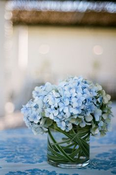 Wedding flowers blue hydrangea - 58 Inpriations to Create Dusty Blue Wedding – Wedding flowers blue hydrangea Blue Hydrangea Centerpieces, Succulent Centerpieces, Baby Shower Centerpieces, Wedding Centerpieces, Wedding Bouquets, Centerpiece Ideas, Centerpiece Flowers, Flowers Vase, Deco Floral