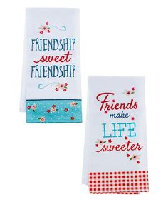 Look at this Life Is Sweet Linen-Blend Guest Towel - Set of Two