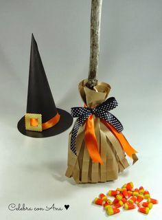 Celebra con Ana: ♥ Escobita de Halloween para chuches