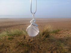 Wire Wrapped Sea Glass Pendant | by Adele Whittle (Tiddu)