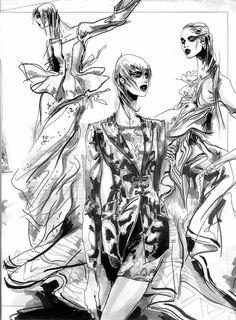 Modeconnect.com - Fashion illustration by Helene Majera