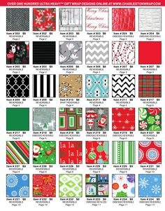 People who support your school can choose from a large selection of ultra-heavy gift wrap