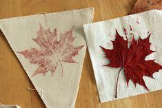 Leaf Stamped Banner Stamping