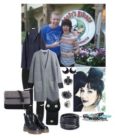 """""""Posing outside Goofy's Kitchen (in disneyland) with Ur friends Bryan Star and Damon Fizzy"""" by mollieswale ❤ liked on Polyvore featuring H&M, rag & bone/JEAN, 7 Chi, Valfré, ABS by Allen Schwartz, Topshop and kitchen"""