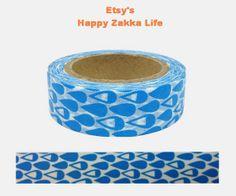 Japanese Washi Masking Tape  Drop  11 yards by zakkalover on Etsy, $3.00