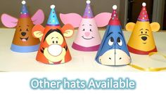 Tigger Birthday Party Hat with a Party Hat inspired by Winnie The Pooh. $15.00, via Etsy.