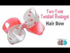 How to Make a Two Tone Twisted Boutique Hair Bow - TheRibbonRetreat.com - YouTube