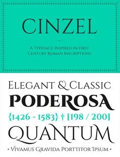 Fonts / free fonts 2014 Cinzel