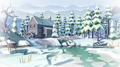 low poly winter on Behance