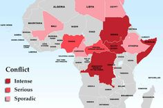 Mapping freedom and conflict in Africa