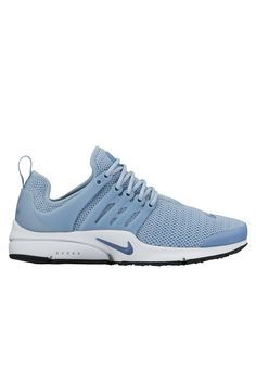Consider yourself a true sneakerhead? Stay ahead of the athleisure shoe game with the Nike Air Presto in Blue Grey, Ocean Fog, Black and White. Boasting a uniquely constructed multi-layered Flyknit upper complete with a standout colourway, these kicks offer premium comfort and next level style. Team with a sleek pair of tights and an oversized tee for an effortless look on your next rest day. We love the P.E Nation End Zone Tee in Black.
