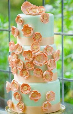 55 Yummy Summer Wedding Cakes | HappyWedd.com