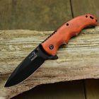 "Elk Ridge 8 3/16"" Spring Assisted Open Gentleman's Folding Hunting Wood Knife"