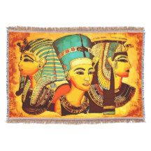 Egyptian Queens Throw Blanket ملكات مصر