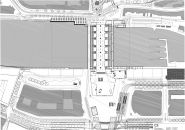 Site plan of Rotterdam Centraal station redevelopment by Benthem Crouwel Architects, MVSA Architects and West 8 Urban Landscape, Landscape Photos, South Holland, Space Projects, Roof Structure, Architecture Board, Roof Plan, Ground Floor Plan, Arquitetura