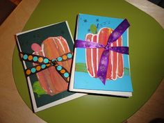 mrspicasso's art room: Girls' Night- Makin' Art! idea for Christmas cards with kids?
