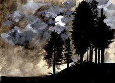 watercolor moon - Google Search