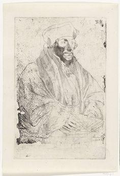 Anthony van Dyck | Portret van Erasmus van Rotterdam, Anthony van Dyck, Hans Holbein (II), 1630 - 1632 |