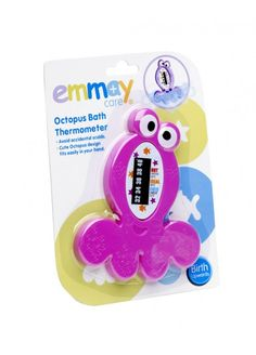 Emmay Care Bath Thermometer: Cute Octopus design helps prevent accidental sclading. Thermoeter floats in the Bath.