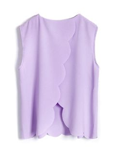 Scalloped backless shirt