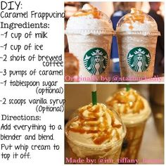Our social Life Coffee Drink Recipes, Milkshake Recipes, Easy Smoothie Recipes, Dessert Recipes, Milkshakes, Frozen Coffee Drinks, Desserts, Starbucks Frappuccino, Starbucks Drinks