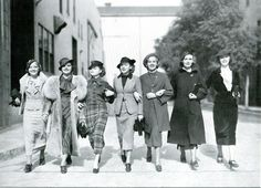 Women on the go, 1930s.