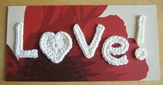 Love! Card. I actually made this! I used pink and white cotton yarn, mounted it on pretty patterned paper in a picture frame for a friend, who was delighted.