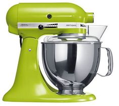 green kitchen aid- must must have for every patissiere, the colour doesnt necessarily have to be green.