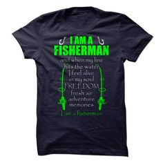I AM A FISHERMAN - #sweatshirt refashion #monogrammed sweatshirt. PURCHASE NOW => https://www.sunfrog.com/LifeStyle/I-AM-A-FISHERMAN-71401787-Guys.html?68278