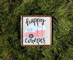 Hey, I found this really awesome Etsy listing at https://www.etsy.com/listing/222509099/happy-camper-handpainted-wood-sign